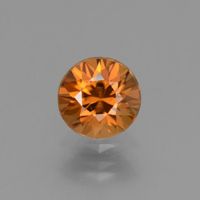 1.6ct Diamond-Cut Medium Orange Zircon Gem (ID: 434399)