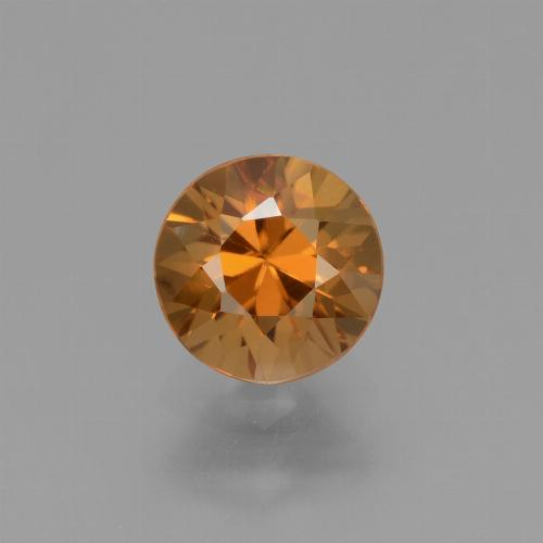 1.7ct Diamond-Cut Medium Orange Zircon Gem (ID: 434401)