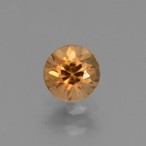 1.3ct Diamond-Cut Medium Orange Zircon Gem (ID: 434403)