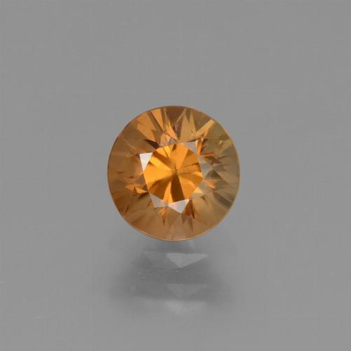 1.4ct Diamond-Cut Orange Brown Zircon Gem (ID: 434404)