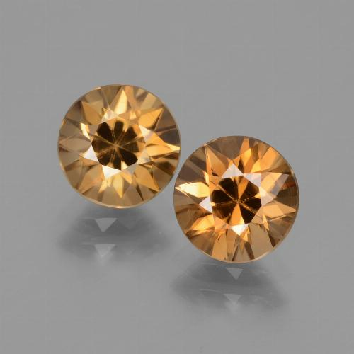 1.8ct Diamond-Cut Medium Orange Zircon Gem (ID: 434471)