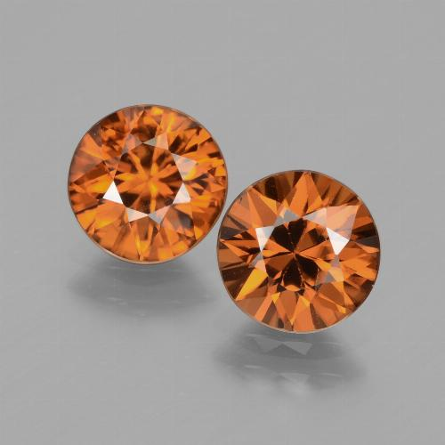 1.9ct Diamond-Cut Medium-Dark Orange Zircon Gem (ID: 434474)