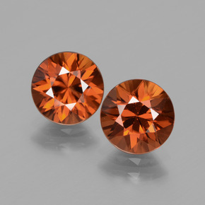 2ct Diamond-Cut Amber Orange Zircon Gem (ID: 434475)