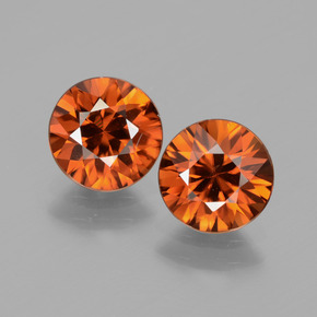 1.8ct Diamond-Cut Dark Orange Zircon Gem (ID: 434476)