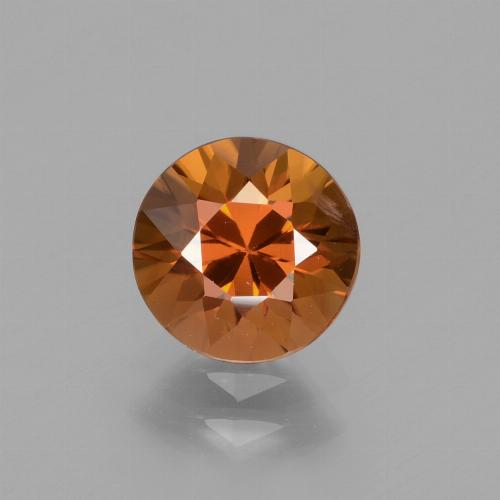 1.9ct Diamond-Cut Deep Orange Zircon Gem (ID: 434477)