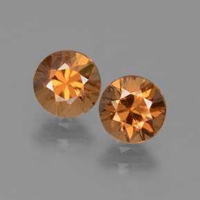 1.2ct Diamond-Cut Brownish Orange Zircon Gem (ID: 434538)