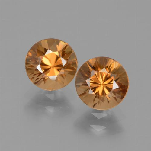 1.3ct Diamond-Cut Deep Orange Zircon Gem (ID: 434540)