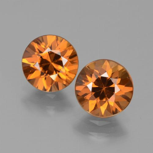 1.6ct Diamond-Cut Deep Orange Zircon Gem (ID: 434542)