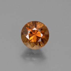 1.4ct Diamond-Cut Brownish Orange Zircon Gem (ID: 434546)