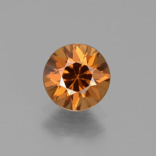 1.6ct Diamond-Cut Deep Orange Zircon Gem (ID: 434547)