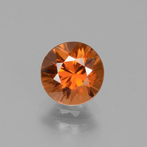 1.7ct Diamond-Cut Medium Orange Zircon Gem (ID: 434549)