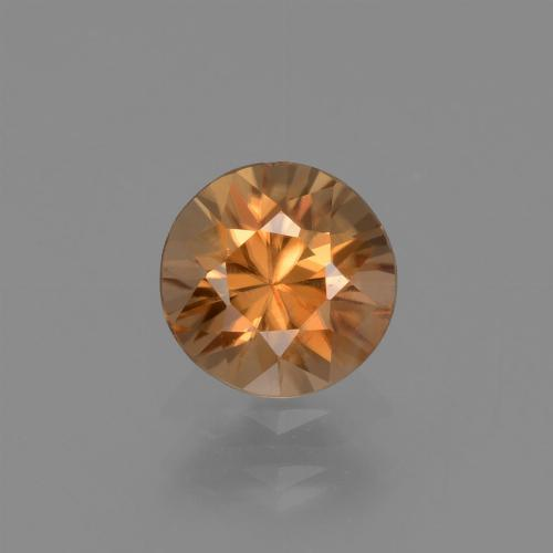 1.2ct Diamond-Cut Rust Orange Zircon Gem (ID: 434586)