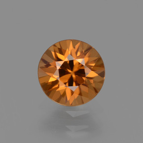 1.5ct Diamond-Cut Deep Orange Zircon Gem (ID: 434588)