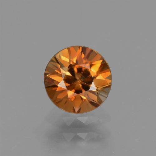 1.3ct Diamond-Cut Medium Orange Zircon Gem (ID: 434590)