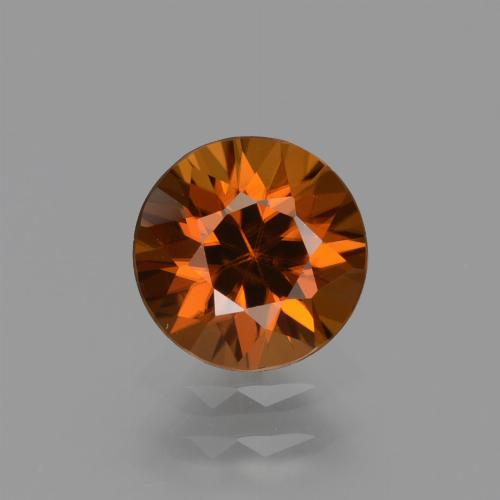 1.5ct Diamond-Cut Deep Orange Zircon Gem (ID: 434591)