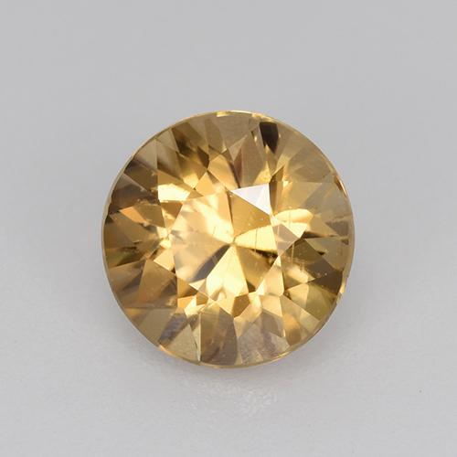 1.3ct Diamond-Cut Golden Zircon Gem (ID: 434593)