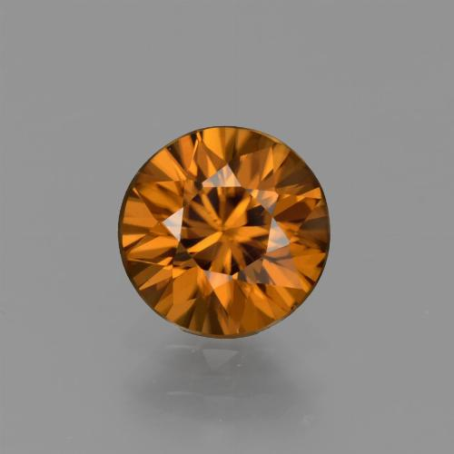 1.4ct Diamond-Cut Medium Orange Zircon Gem (ID: 434594)