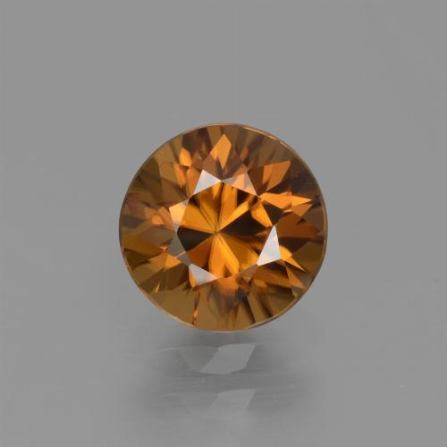 1.6ct Diamond-Cut Medium Orange Zircon Gem (ID: 434595)