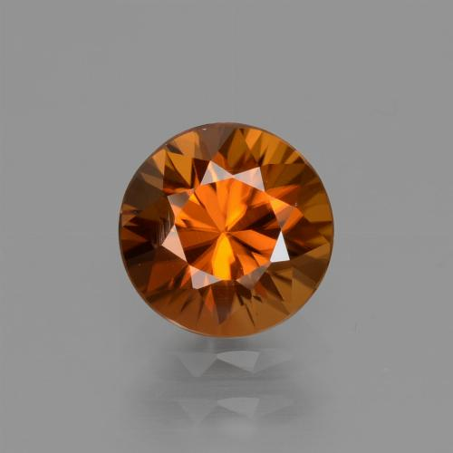 1.7ct Diamond-Cut Medium Orange Zircon Gem (ID: 434597)