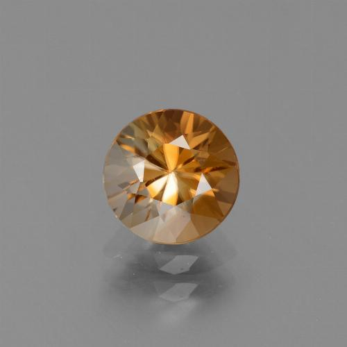 2ct Diamond-Cut Medium Orange Zircon Gem (ID: 434623)