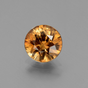 2.2ct Diamond-Cut Medium Orange Zircon Gem (ID: 434626)