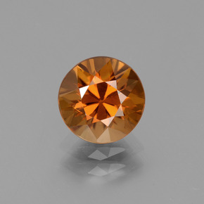 2.6ct Diamond-Cut Deep Orange Zircon Gem (ID: 434628)