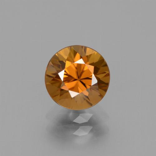 2.4ct Diamond-Cut Deep Orange Zircon Gem (ID: 434632)