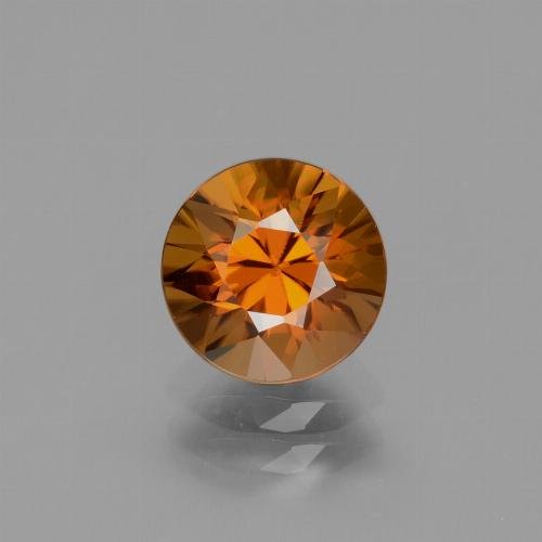 2.5ct Diamond-Cut Medium Orange Zircon Gem (ID: 434633)