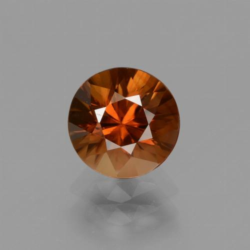 2ct Diamond-Cut Reddish Orange Zircon Gem (ID: 434683)