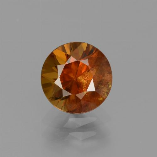 2.1ct Diamond-Cut Deep Orange Zircon Gem (ID: 434686)