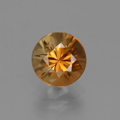 2.2ct Diamond-Cut Medium Orange Zircon Gem (ID: 434689)