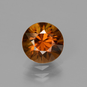 2.4ct Diamond-Cut Amber Orange Zircon Gem (ID: 434691)
