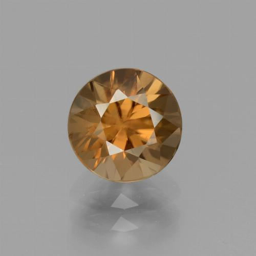 2.2ct Diamond-Cut Medium Orange Zircon Gem (ID: 434692)