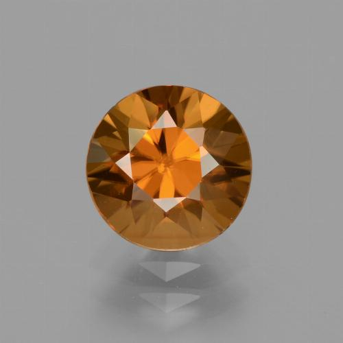 2.5ct Diamond-Cut Medium Orange Zircon Gem (ID: 434693)