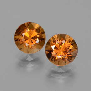 2.07 ct Diamond-Cut Golden Orange Zircon Gemstone 7.16 mm  (Product ID: 434695)