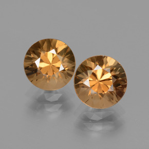 2.14 ct Diamond-Cut Golden Zircon Gemstone 7.12 mm  (Product ID: 434696)