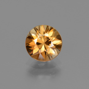 2.3ct Diamond-Cut Medium Orange Zircon Gem (ID: 434698)