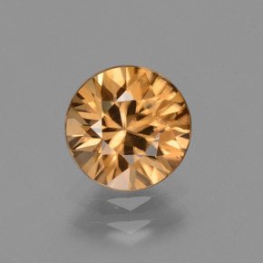 2.3ct Diamond-Cut Light Earth Orange Zircon Gem (ID: 434701)