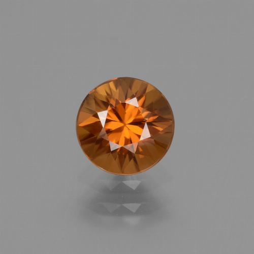 1.2ct Diamond-Cut Deep Orange Zircon Gem (ID: 434703)