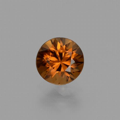 1.4ct Diamond-Cut Deep Brownish Orange Zircon Gem (ID: 436942)