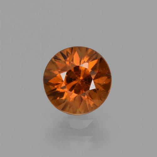 1.2ct Diamond-Cut Amber Orange Zircon Gem (ID: 436943)