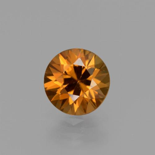 1.5ct Diamond-Cut Medium Orange Zircon Gem (ID: 436944)