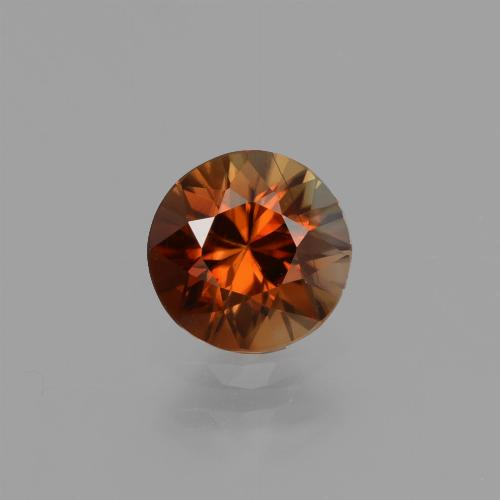 1.2ct Diamond-Cut Deep Reddish Orange Zircon Gem (ID: 436946)