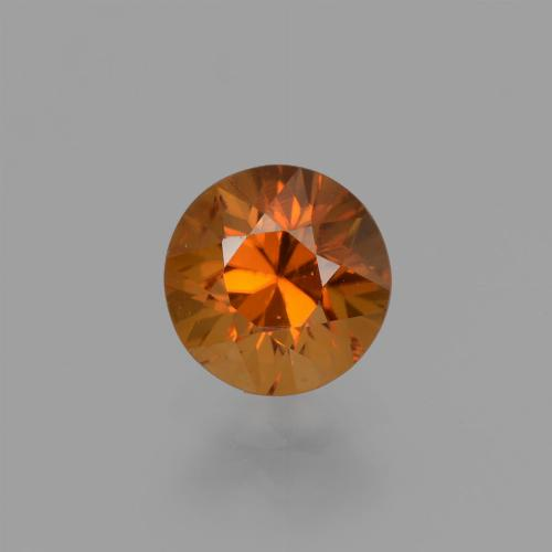 1.4ct Diamond-Cut Medium-Dark Orange Zircon Gem (ID: 436950)