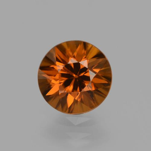 1.5ct Diamond-Cut Dark Orange Zircon Gem (ID: 436951)
