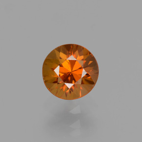 1ct Diamond-Cut Deep Orange Zircon Gem (ID: 436952)