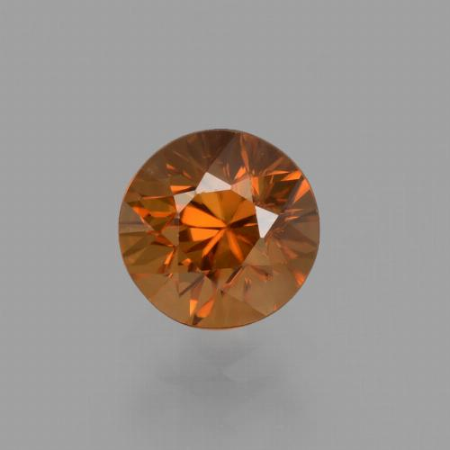 1.43 ct Diamond-Cut Golden Orange Zircon Gemstone 6.05 mm  (Product ID: 436953)