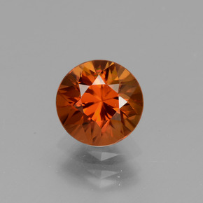 1.8ct Diamond-Cut Deep Orange Zircon Gem (ID: 437064)