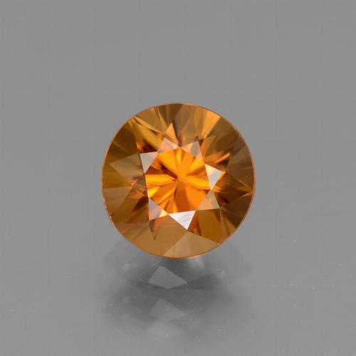 1.8ct Diamond-Cut Deep Orange Zircon Gem (ID: 437065)
