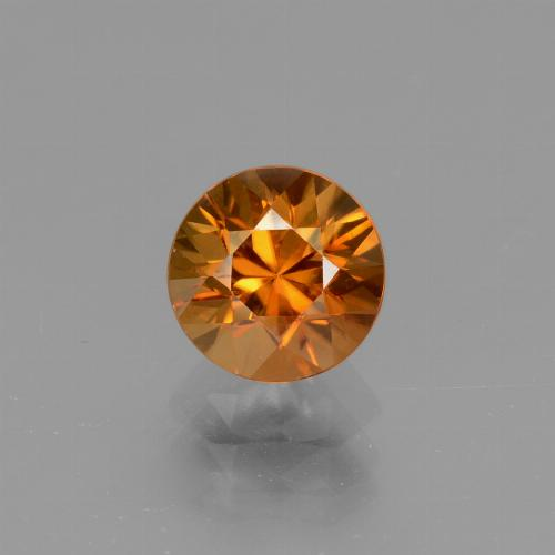 1.5ct Diamond-Cut Yellowish Orange Zircon Gem (ID: 437066)